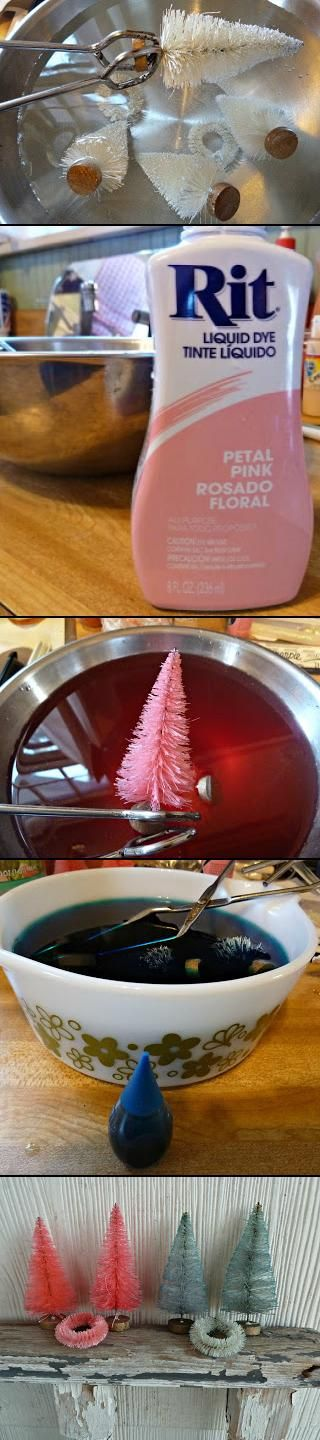 Tutorial: How to Dye Bottle Brush Trees