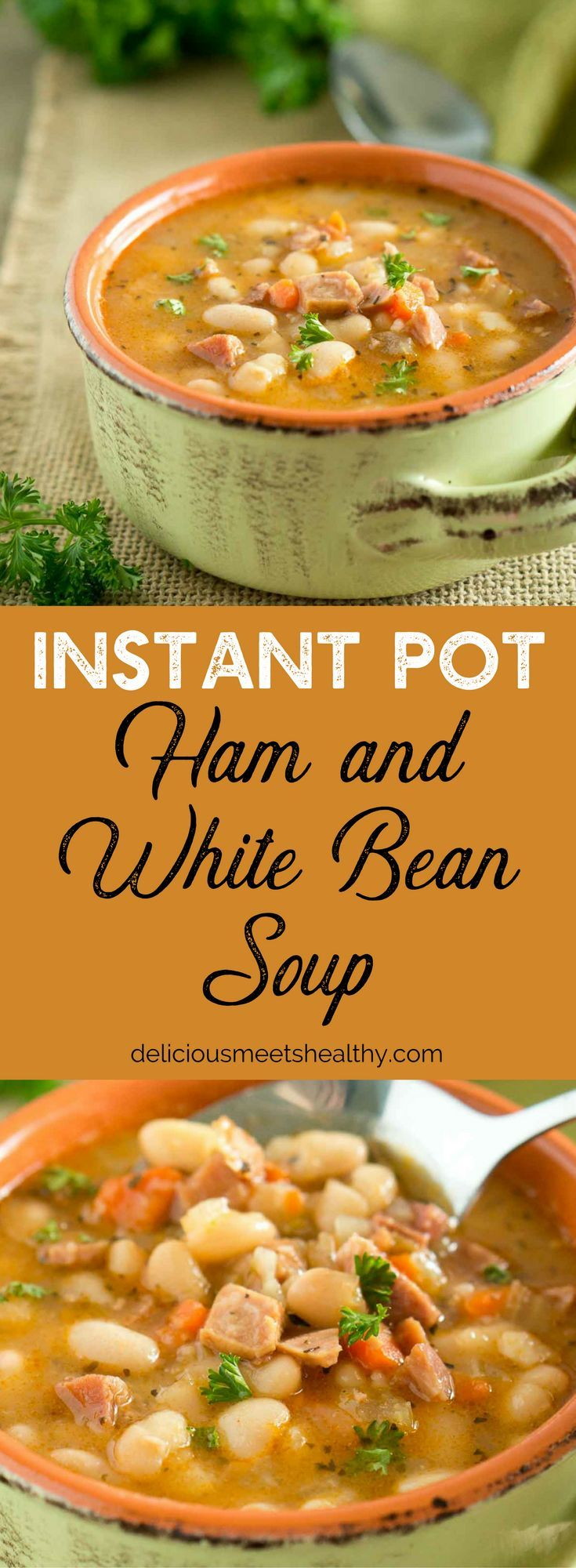Hearty, starchy and filling, this rustic Ham and White Bean Soup is the epitome of comfort food.