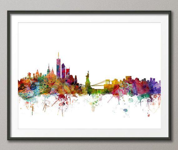 New York City Skyline NYC Cityscape Art Print 906 by artPause