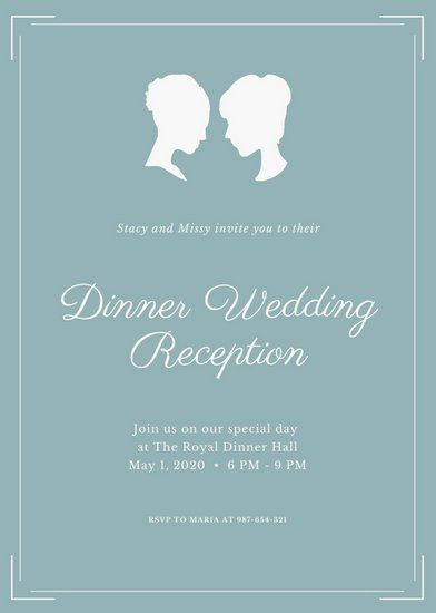 17 best Wedding invitation templates images on Pinterest Wedding - funeral reception invitation