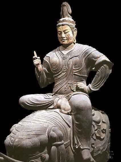 Taishaku-ten statue 帝釈天半跏像, property of To-ji Temple, National Treasure of Japan