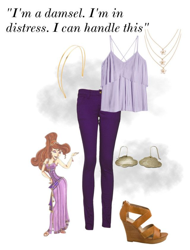"""Disneybound Megara"" by chloe-marie-chapman on Polyvore featuring Just Trade, Monkee Genes, Mrs. President & Co., Elie Saab, Seychelles and Disney"