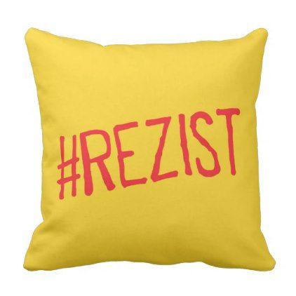 rezist romania political slogan resist protest sym throw pillow - decor gifts diy home & living cyo giftidea