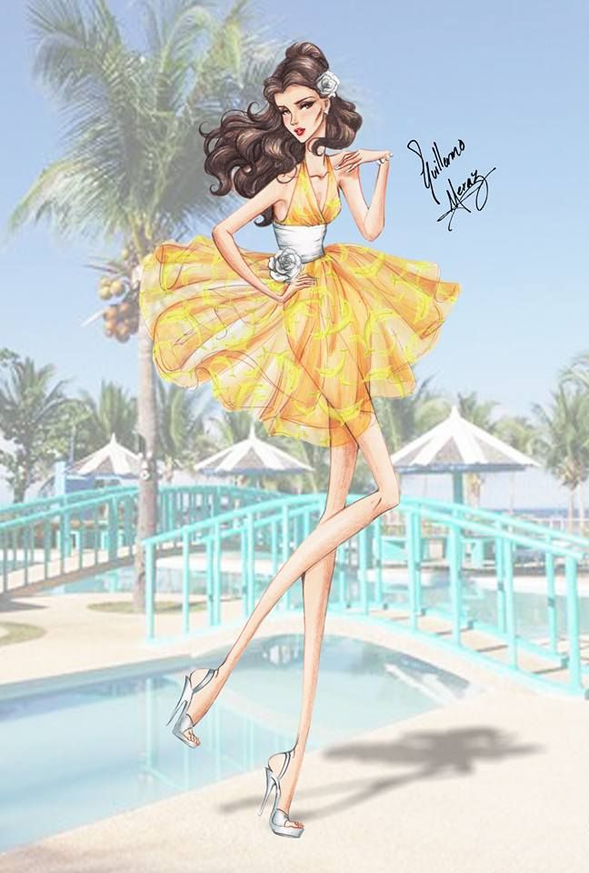 Disney Princess Summer Collection 2015 by Guillermo Meraz - Belle
