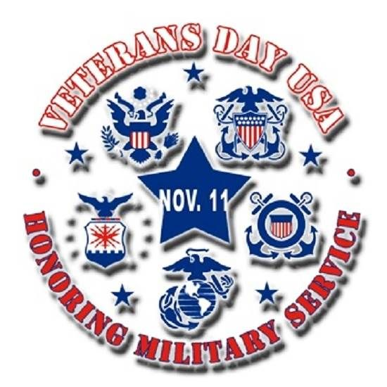 Honoring Military Service Veterans Day 2014 Clip Art