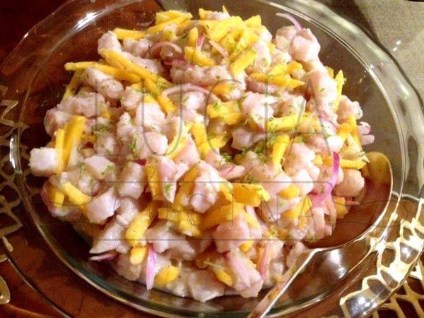 ceviche de corvina http://luciacocinabogota.blogspot.com/2014/06/evento-comida-celebracion-familiar.html