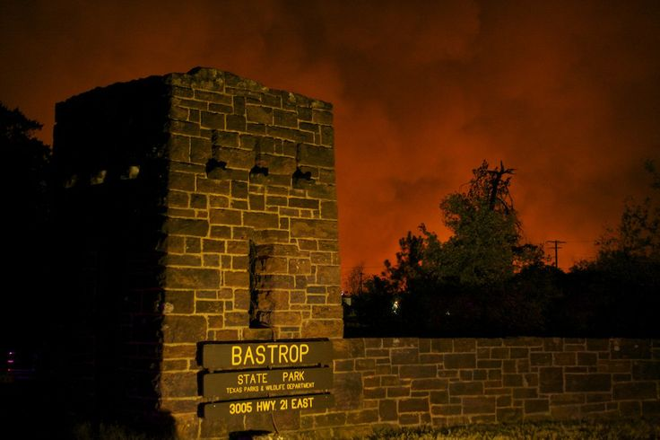 The sky stained red over the Bastrop fire, which burned more than 34,000 acres in September 2011.