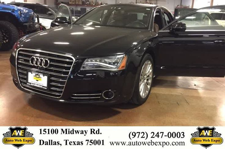 2014 Audi A8 in Phantom Black Pearl exterior and Nougat Brown interior. This car blows most any other vehicle out of the water! It's equipped with heated & ventilated seats, navigation, back up camera and even lane departure warning. The perfect combination of class and drivability! To make your next appointment with Auto Web Expo- contact Alicia @ 214.808.8901  https://deliverymaxx.com/DealerReviews.aspx?DealerCode=J789  #BlackSedan #BlackAudi #Plano #AutoWebExpoInc