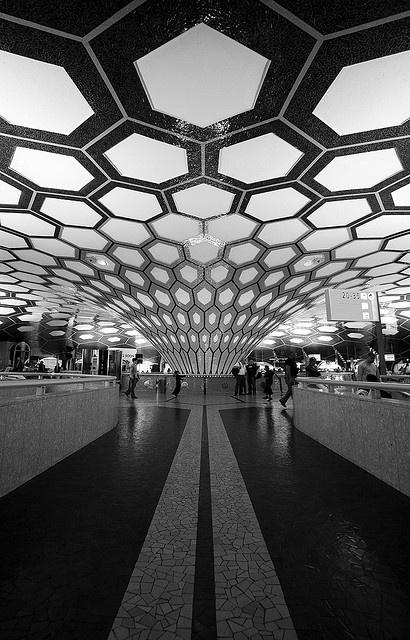 Abu Dhabi Airport #architecture #geometric #shapes # ...