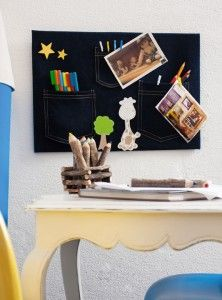 recycling old jeans organization wall kids room storage pens