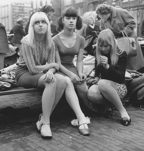 Teenagers in Waterlooplein, Amsterdam. 1966. Photo by Ed van der Elsken.