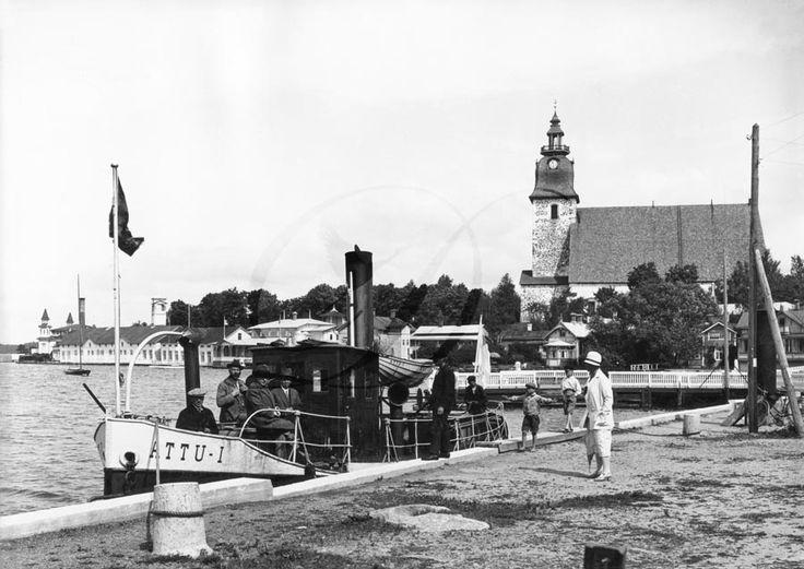 Arkistolähde: Naantalin museo. Attu I laiturissa, 1910 -luku