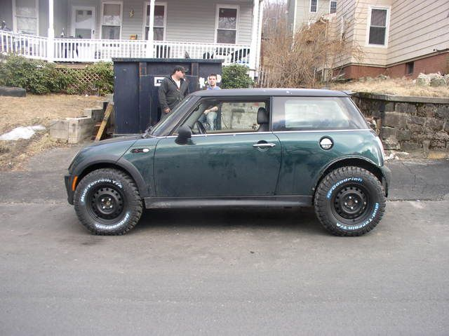 Lifted Mini Cooper Hardtop S, ready to do some off-roading?! #minicooper #notnormal