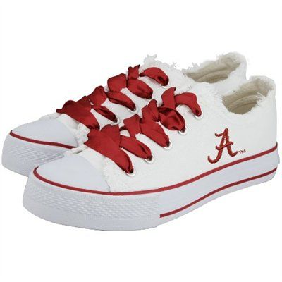 I NEED these!!!! Alabama Crimson Tide White Ladies Spirit Sneakers
