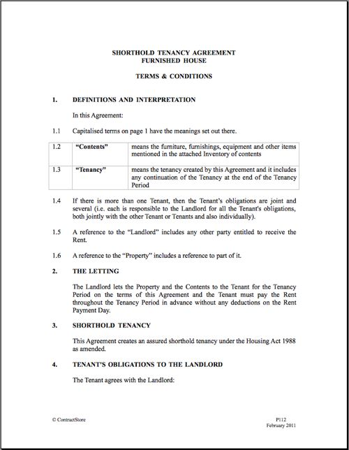Printable Sample Rental Agreement Doc Form