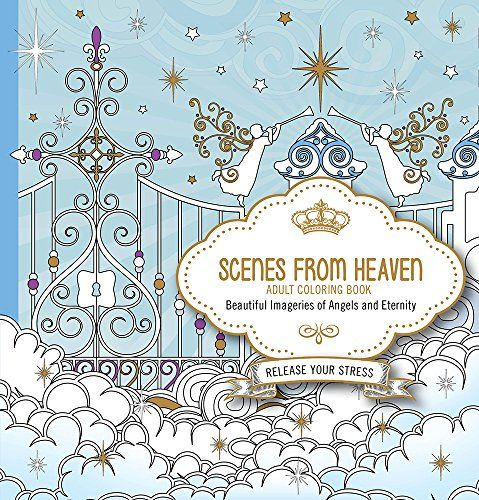 scenes from heaven adult coloring book beautiful imager http - Coloring Pages Beautiful Angels