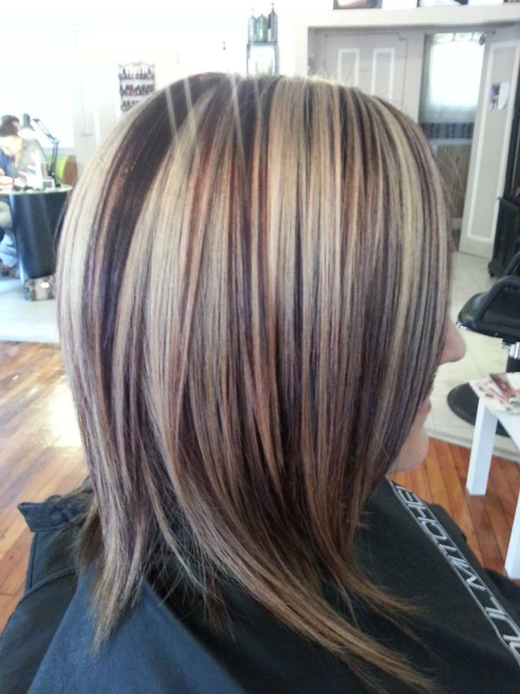 Dark Hair With Red Low Lights And Blonde High Lights Highlights And Lowlights Hair Ideas