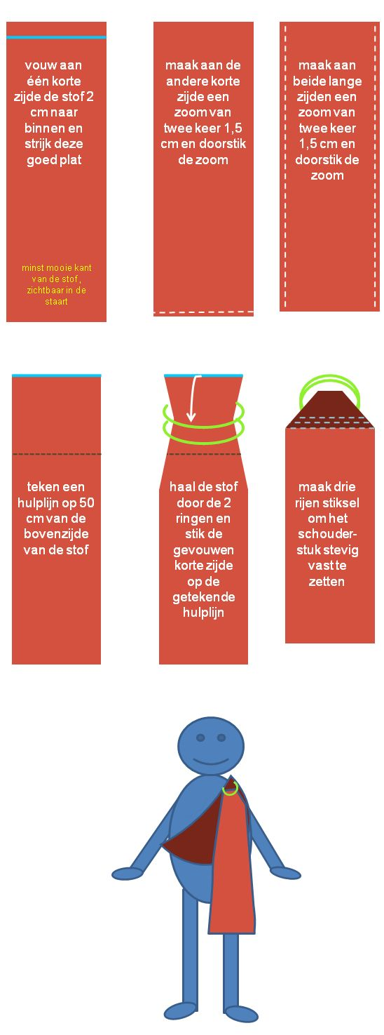 DIY Sling instructions in Dutch -- great graphics! Handleiding ringsling 1 laag