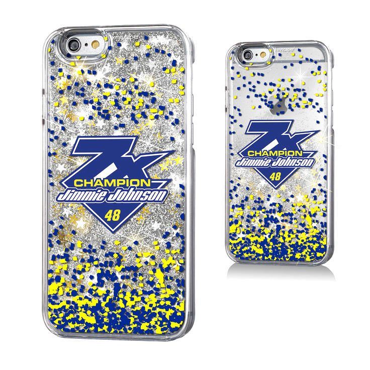Jimmie Johnson 2016 Sprint Cup Champion Gold Glitter iPhone 6 & 6s Case - $19.99