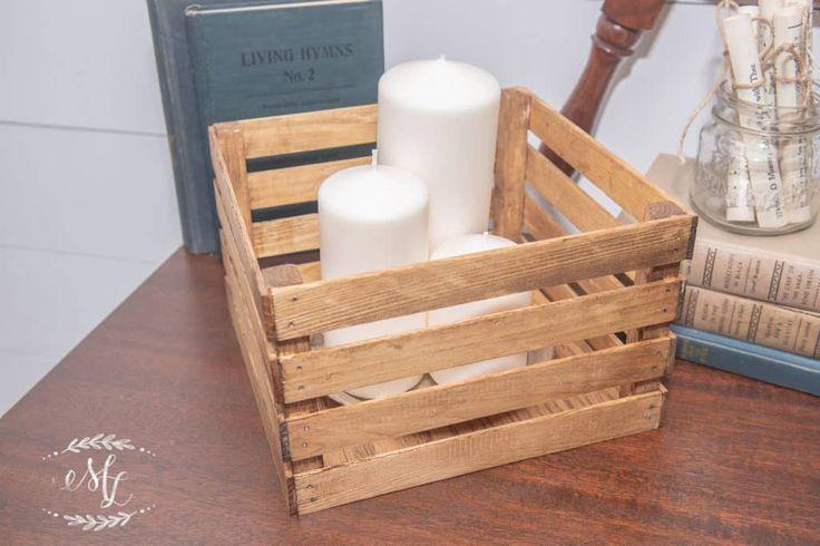 Wie man preiswerte Holzkisten herstellt • Maria Louise Design  – Home diy