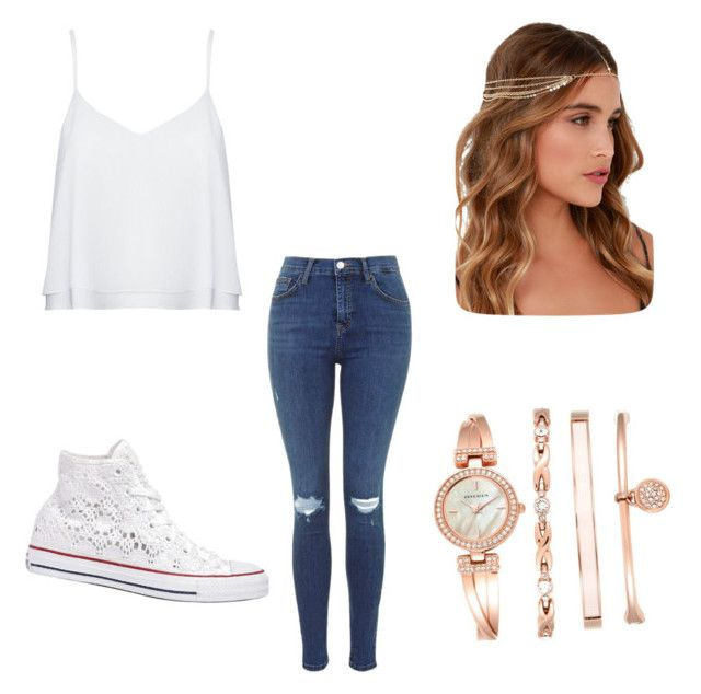 Untitled #13 by denisaonisie on Polyvore featuring polyvore fashion style Alice + Olivia Converse Anne Klein Lulu*s