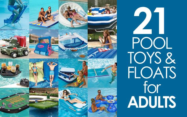 Adults should have child-like fun in the swimming pool, too! Here are 21 really cool pool floats for adults that will bring out your inner-child.