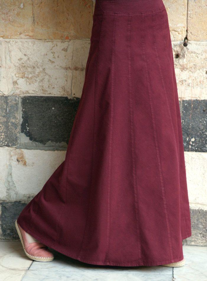 SHUKR USA   Cotton Paneled Skirt