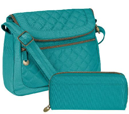 Travelon Anti-Theft Quilted Convertible Bag w/ RFID Wallet
