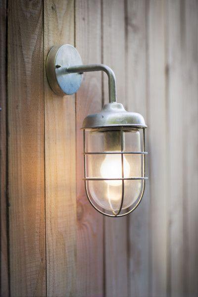"""Buitenlamp """"St Ives Harbour Light"""", nautische hanglamp in gegalvaniseerd staal. ✓tuinverlichting ✓buitenverlichting ✓wandverlichting."""