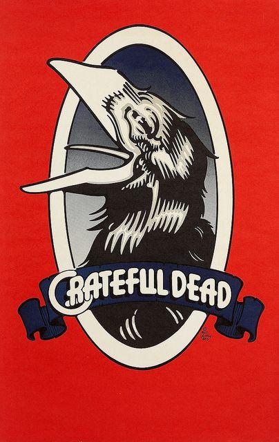 "Record Store Promotional Posters Grateful Dead Records ""The Raven"" Record Store Promo Poster by Rick Griffin#GratefulDead #RickGriffin"