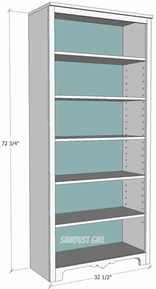 Pin On Wooden Shelves Bookcase Plans