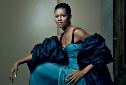 First Lady, Michelle Obama. Photograph by Annie Leibovitz for Vogue, January 2009.