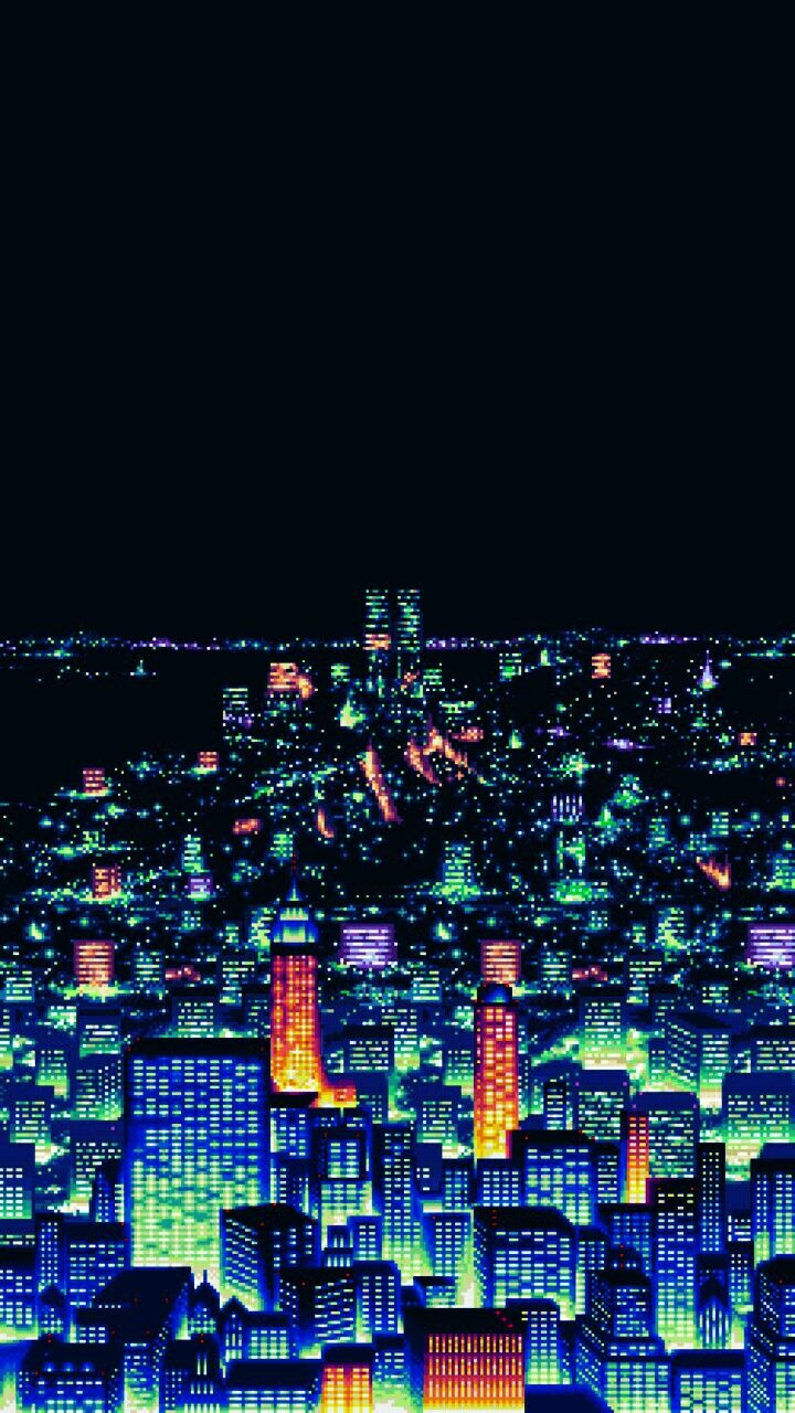 Pin By Aaron Milner On 90s Pixel Art Pixel Art Pixel City Pixel Art Landscape