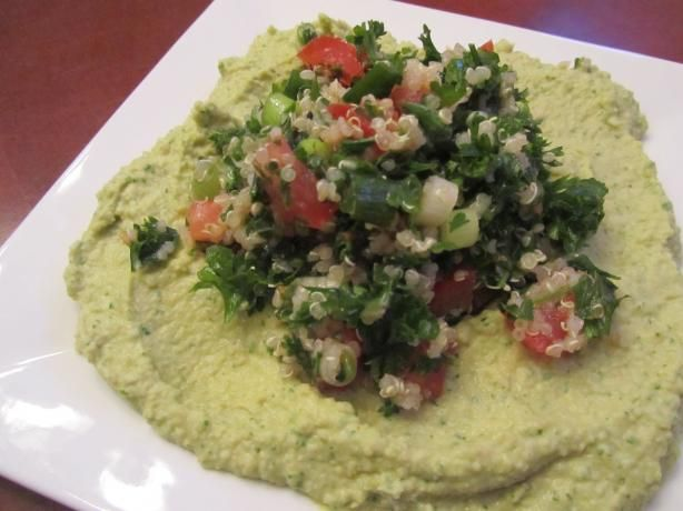 Pita Jungle Recipes! Tabouli and Cilantro Jalapeno Hummus...Yum!