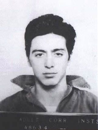 Al Pacino, arrested on January 7, 1961 on Rhode Island, for the possession of a weapon.