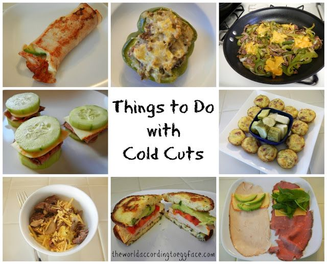 Eggface Weight Loss Surgery Friendly Low Carb Recipes: Things to Do With Cold Cuts