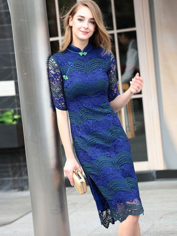 Lace qi pao dress pictures