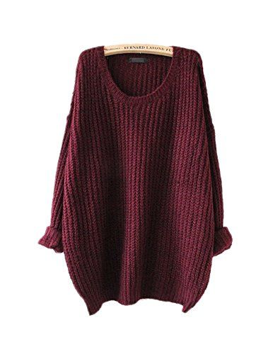 ARJOSA Women's Fashion Oversized Knitted Crewneck Casual ... https://smile.amazon.com/dp/B00PTRFUL8/ref=cm_sw_r_pi_dp_x_ePXxzb4F0ND6N