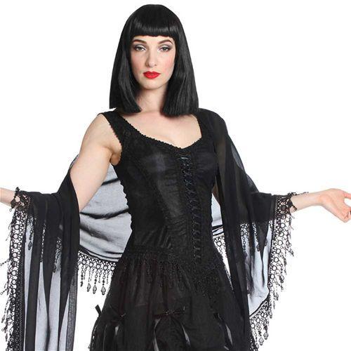 Venetiaans kanten sjaal zwart - Victoriaans Gothic - One Size - Sinister