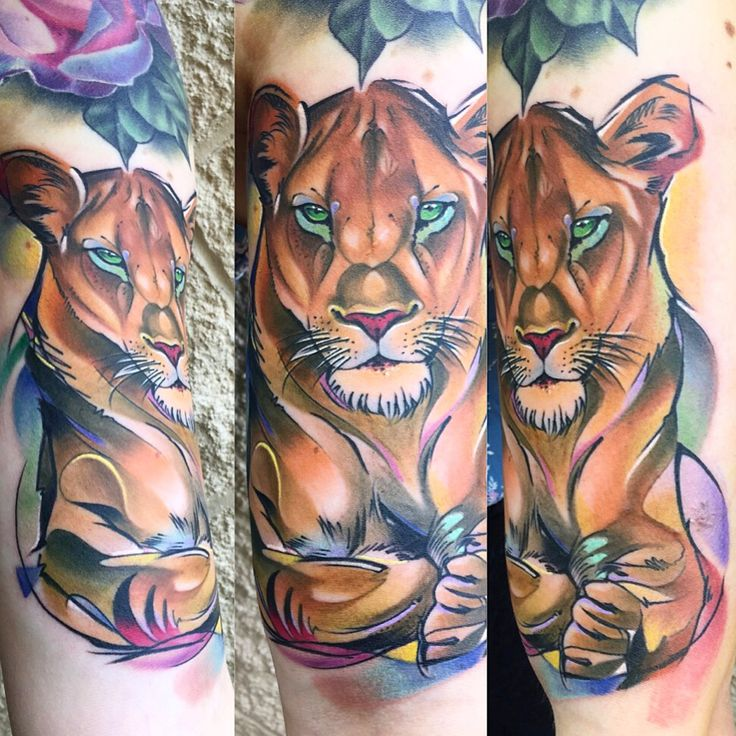 25 best ideas about lion tattoo girls on pinterest lion for Best realism tattoo artist near me