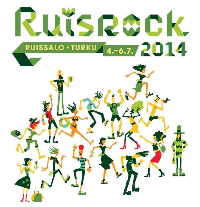 Festival's visual identity and illustrations by Ilja Karsikas for Ruisrock Festival, 2014