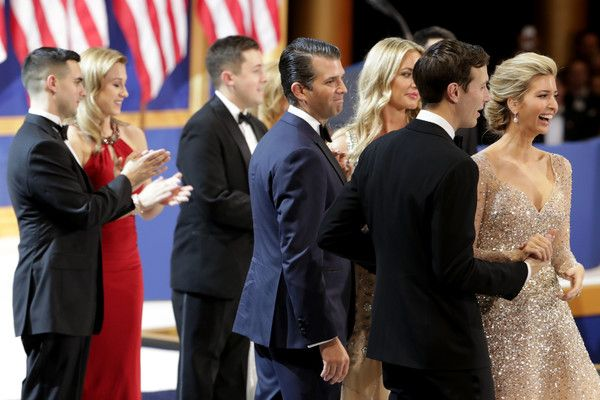 Melania Trump Photos Photos - Ivanka Trump (R) dances with her husband Jared Kushner and Eric Trump dances with his wife Lara Yunaska during A Salute To Our Armed Services Inaugural Ball at the National Building Museum on January 20, 2017 in Washington, DC. President Donald Trump was sworn in as the 45th President of the United States today. - President Donald Trump Attends A Salute To Our Armed Services Ball
