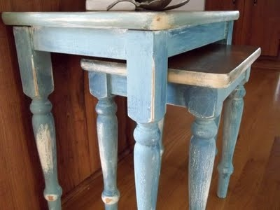 "I think this might make for an interesting finish on the window vanity. From the website: ""I used Annie Sloan's Chalk Paint I used a trio of colors old white, duck egg blue and aubusson blue."""