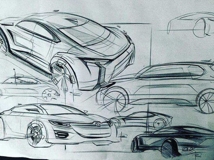 Karakalem araba çizimi. Cars