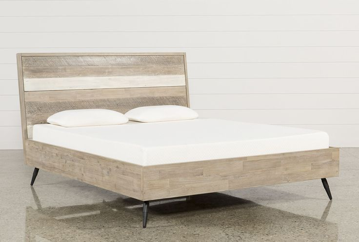 "(Guest Bedroom) Kai Queen Platform Bed - Living Spaces | 64""W x 87""D x 49""H"