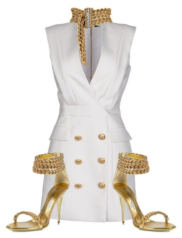 """Untitled #3112"" by xirix ❤ liked on Polyvore featuring Balmain"