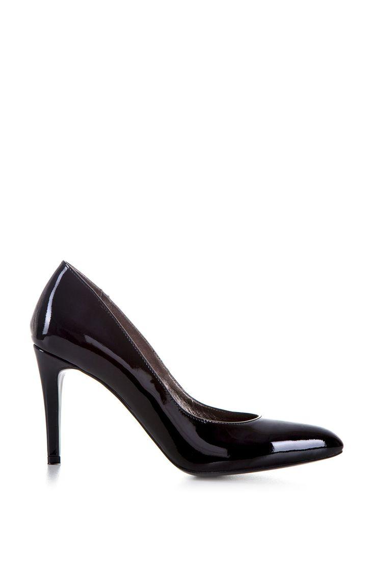 Comanda online, Pantofi Din Piele Naturala Nymphea Black. Articole masurate, calitate garantata!