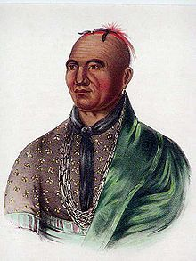 1830's lithograph based on the last portrait of  Joseph Brant, an 1806 oil on canvas painting by Ezra Ames. - Wikipedia