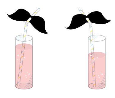 Tutorial for mustache straws #tutorial
