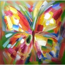 """Summer Butterfly 40""""x 40"""" High Gloss Canvas (Less 5'' each size Unframed) From £199"""